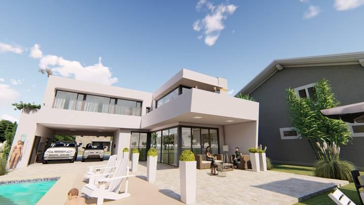 Contra Frente 3: Casas de estilo  por Módulo 3 arquitectura,