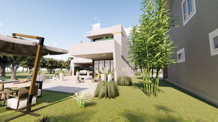Contra Frente 4: Casas de estilo  por Módulo 3 arquitectura,