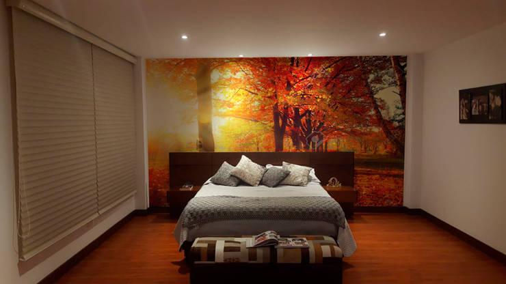 Fotomural Otoño: Dormitorios de estilo  por vinilos dkorativos