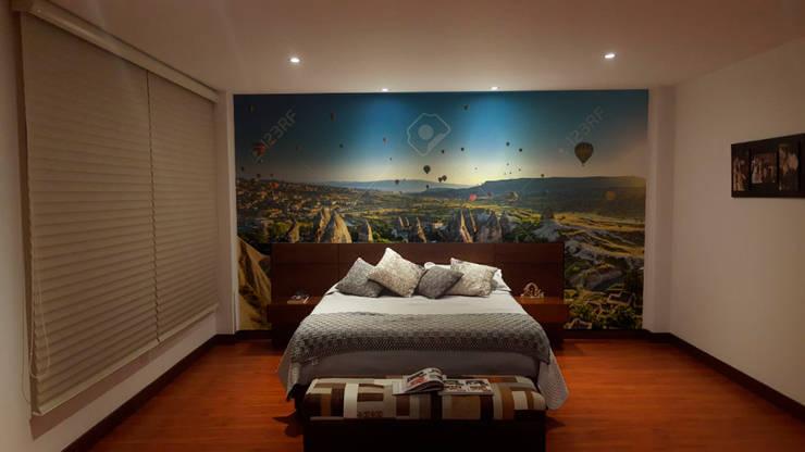 fotomural globos: Paisajismo de interiores de estilo  por vinilos dkorativos