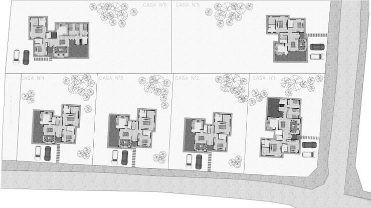 Condominio Santo Canelo II:  de estilo  por R-Innovare / Diseño de interiores y Arquitectura / Santiago y Viña del mar