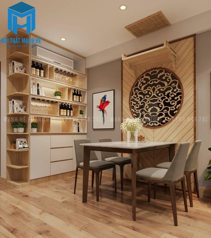Bộ bàn ăn nhà bếp:  Nhà bếp by Công ty TNHH Nội Thất Mạnh Hệ