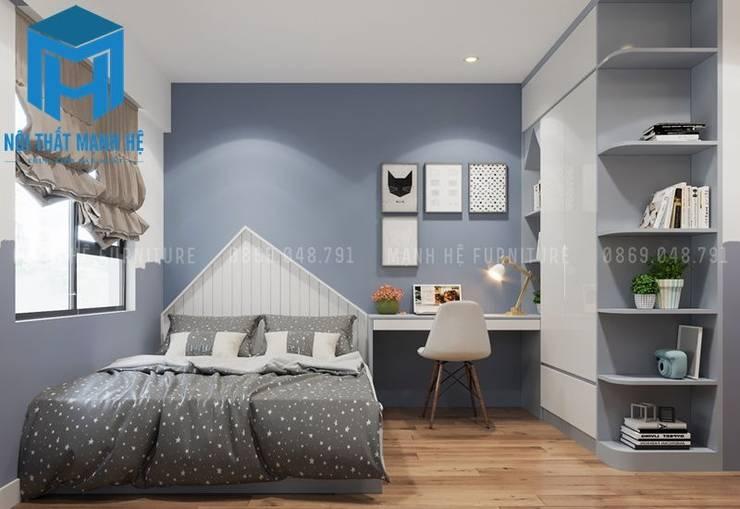 Phòng ngủ nhỏ dành cho các bé:  Phòng ngủ by Công ty TNHH Nội Thất Mạnh Hệ
