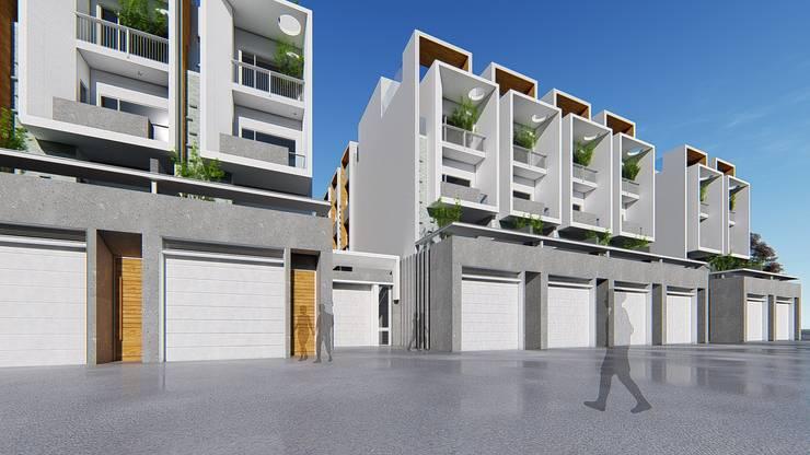 理境 臨路戶及社區入口:  房子 by 尋樸建築師事務所