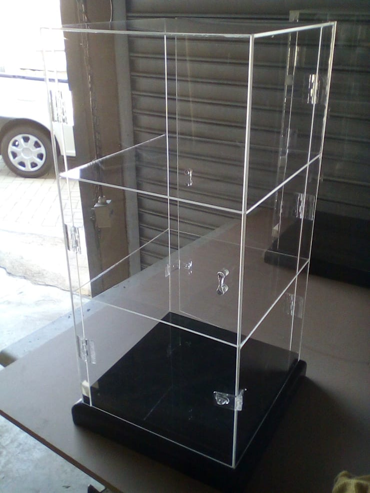 Perspex Retail Display Cabinets: industrial  by Apex Zone (Pty) Ltd, Industrial Wood-Plastic Composite