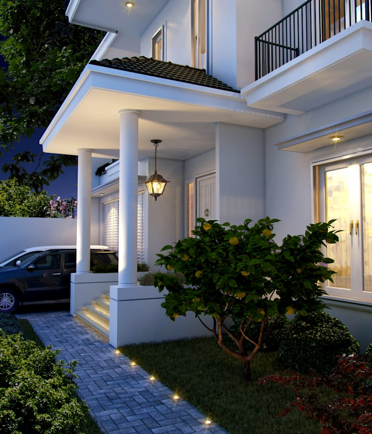Exterior:  Rumah tinggal  by Ectic