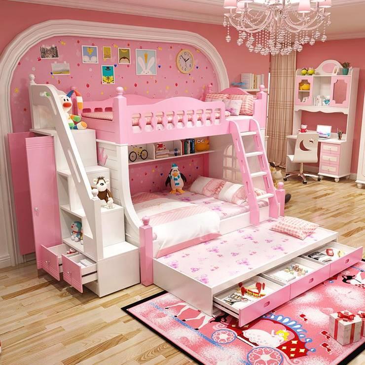 Giường tầng đa năng thông minh có giường phụ GTE044:   by Xưởng nội thất Thanh Hải