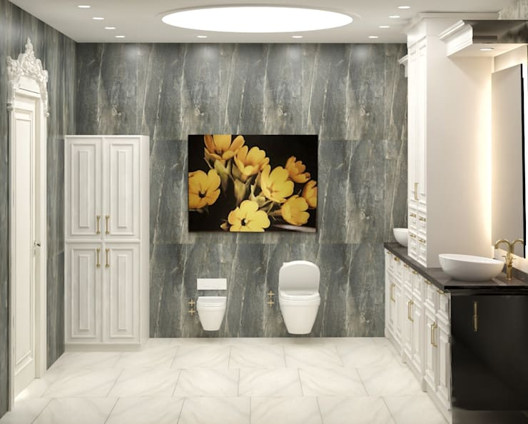 Bathroom by VOGUE MİMARLIK TASARIM UYGULAMA