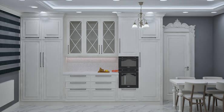 VOGUE MİMARLIK TASARIM UYGULAMA – Nihat bey dairesi: rustik tarz tarz Mutfak