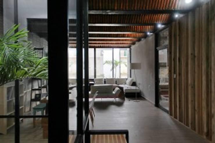 Casa Jardín: Salas de estilo  por Apaloosa Estudio de Arquitectura y Diseño