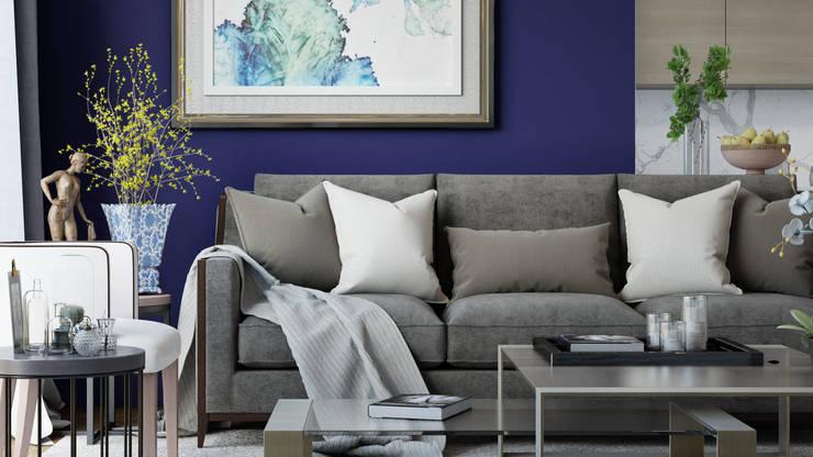 Rengin Mimarlık – Özel Villa Projesi - Silivri/İSTANBUL:  tarz Oturma Odası