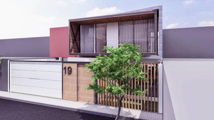 CASA ARICA – CHILE: Casas de estilo  por TECTONICA STUDIO SAC, Moderno