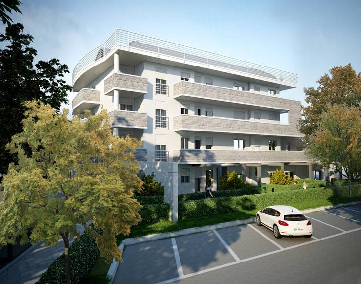 Habitações multifamiliares  por Studio Corbetta architettura e design