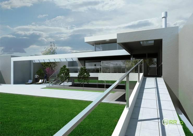 expansión del patio : Casas unifamiliares de estilo  por Rr+a  bureau de arquitectos - La Plata,