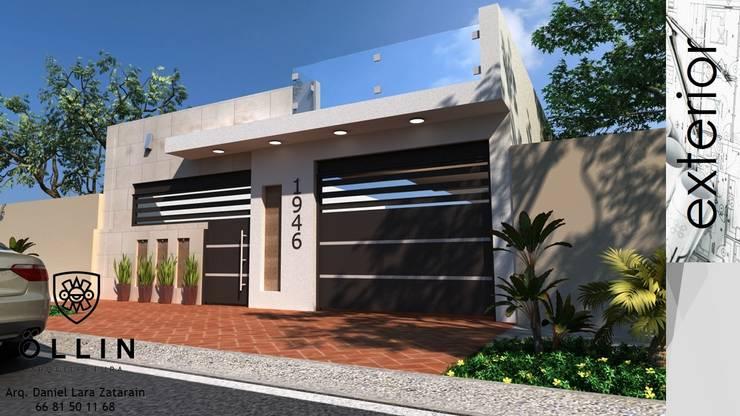 DISEÑO DE FACHADA: Casas unifamiliares de estilo  por OLLIN ARQUITECTURA