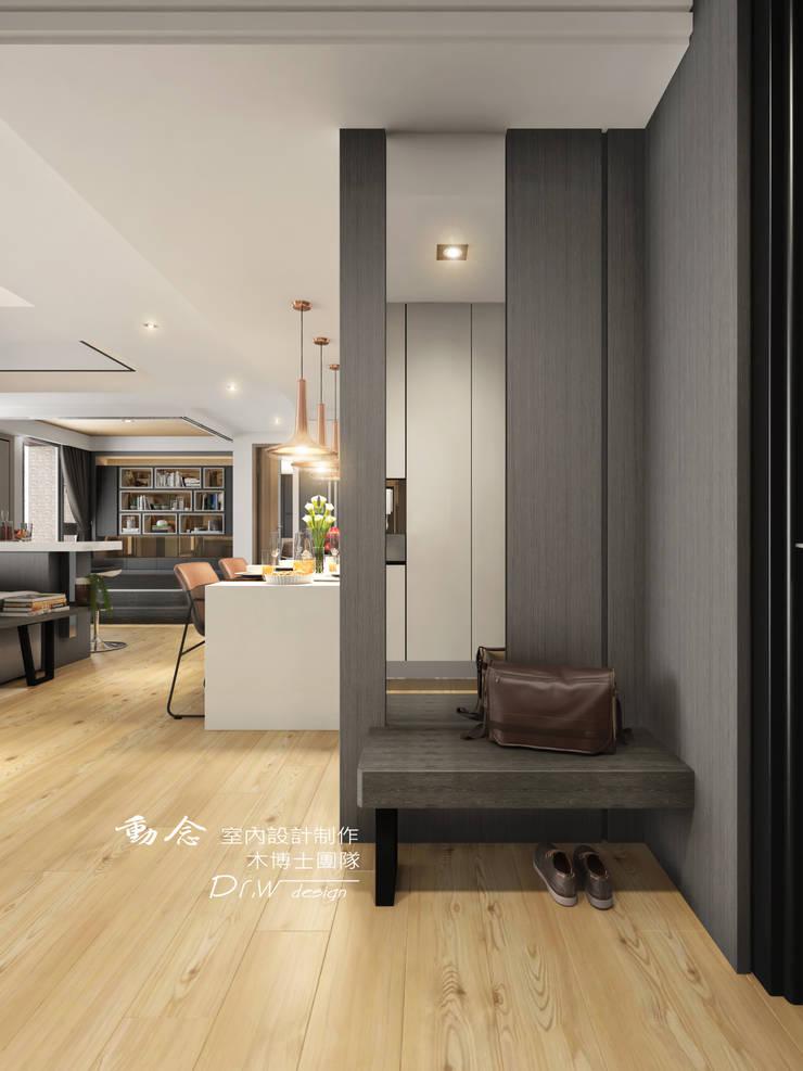 玄關/現代風:  走廊 & 玄關 by 木博士團隊/動念室內設計制作