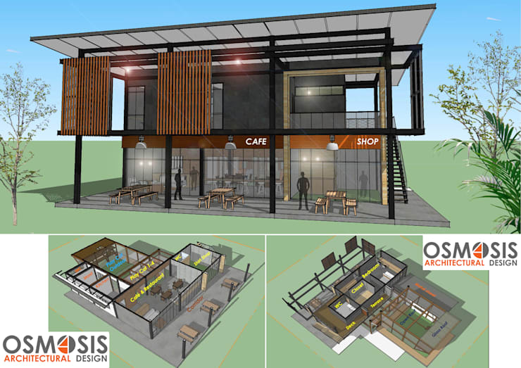Housing Cat Cafe:   by OSMOSIS Architectural Design