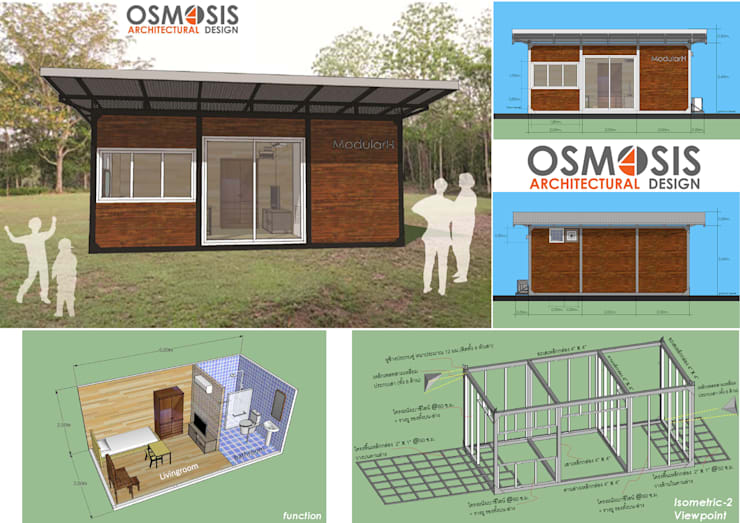 Modular Hut:   by OSMOSIS Architectural Design