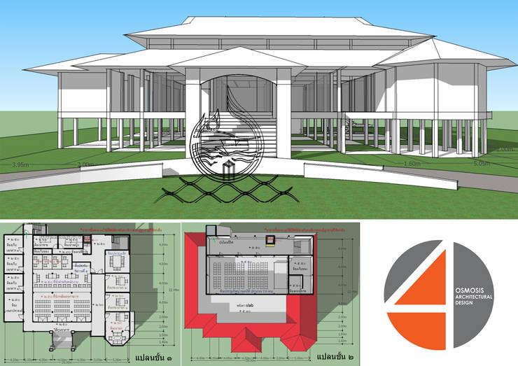 อาคารเทศบาลหาดเล็ก จังหวัดตราด:   by OSMOSIS Architectural Design