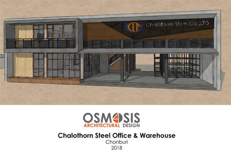 Chalothornsteel Office & Warehouse:  บ้านเดี่ยว by OSMOSIS Architectural Design