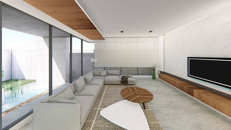 客廳-2:  客廳 by 尋樸建築師事務所