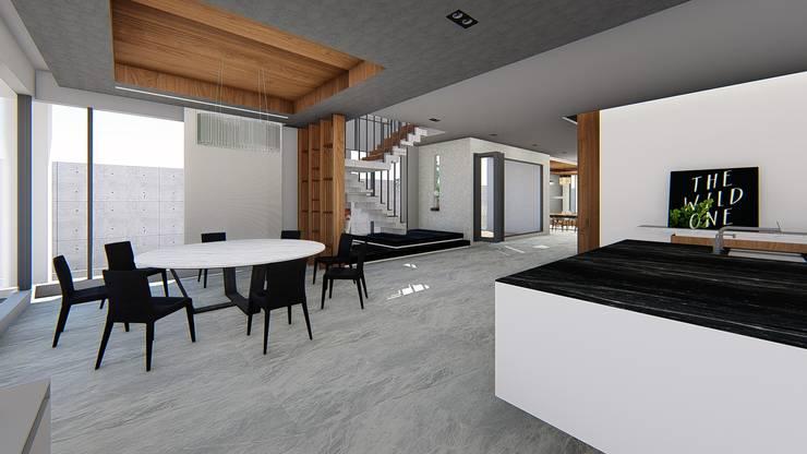 餐廳與主樓梯-2:  餐廳 by 尋樸建築師事務所