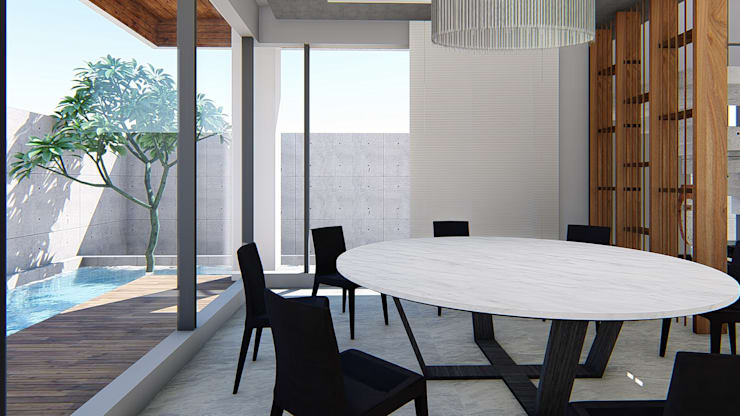 餐廳與戶外水池:  餐廳 by 尋樸建築師事務所