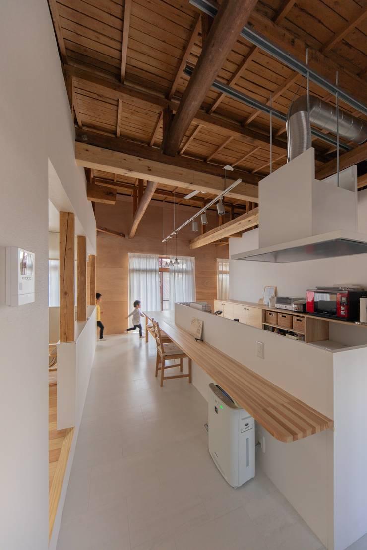 ครัวบิลท์อิน โดย インデコード design office, โมเดิร์น แผ่นไม้อัด Plywood