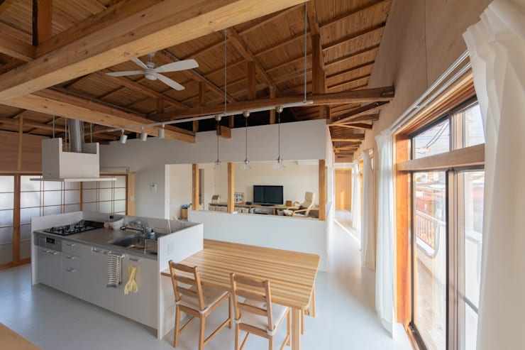 ห้องทานข้าว โดย インデコード design office, โมเดิร์น ไม้ Wood effect