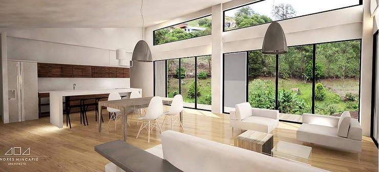 Living room by Andrés Hincapíe Arquitectos  A H A,