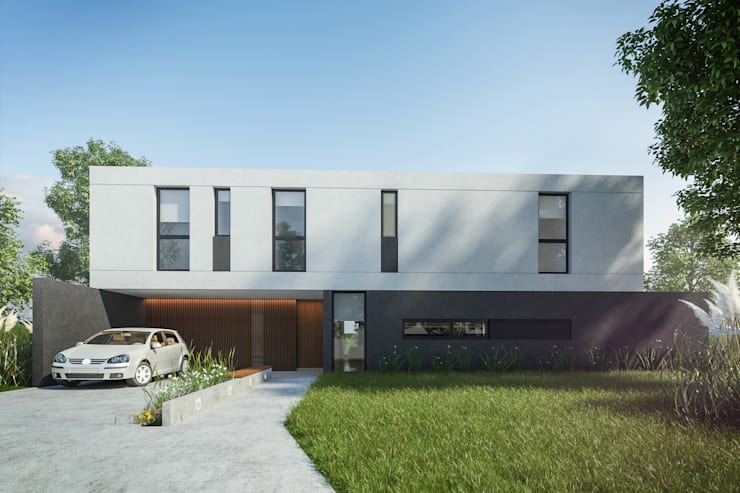 Casa FM : Casas de estilo  por TDC - Oficina de arquitectura