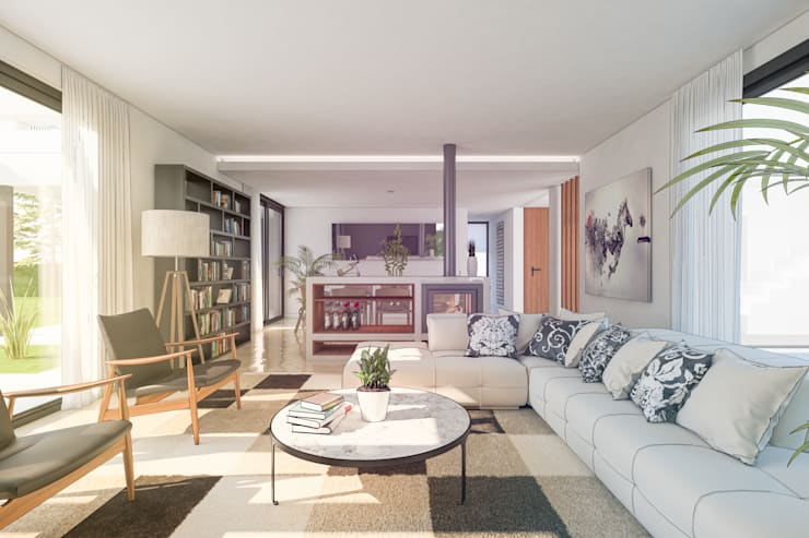 Casa FM : Livings de estilo  por TDC - Oficina de arquitectura