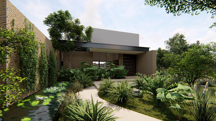 Casa Arboleda: Jardines de estilo  por EMERGENTE | Arquitectura