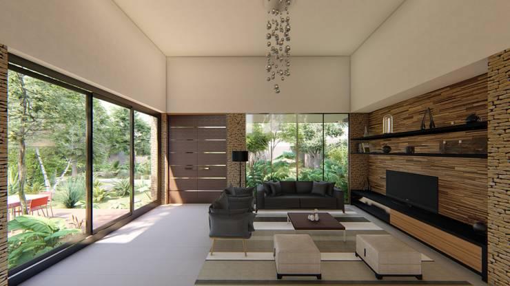 Casa Arboleda: Salas de estilo  por EMERGENTE | Arquitectura