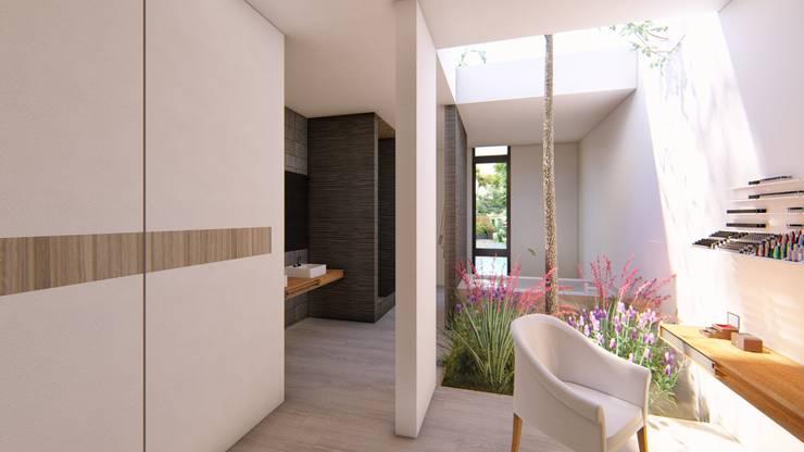 Casa Arboleda: Terrazas de estilo  por EMERGENTE | Arquitectura