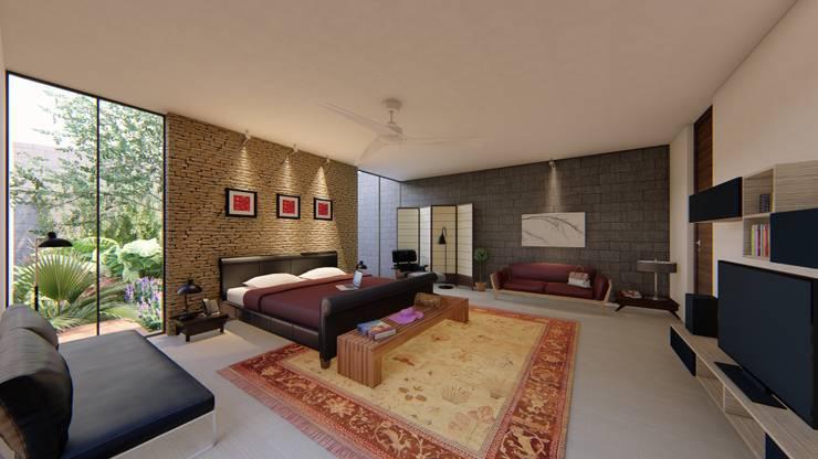 Casa Arboleda: Recámaras de estilo  por EMERGENTE | Arquitectura