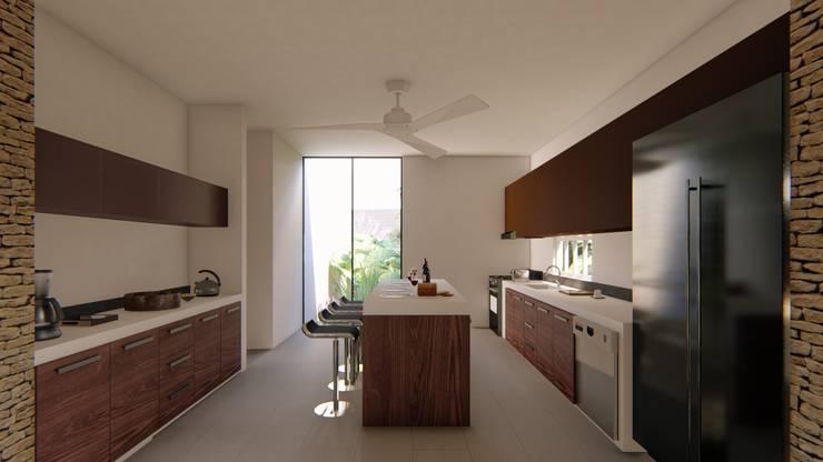 Casa Arboleda: Cocinas de estilo  por EMERGENTE | Arquitectura