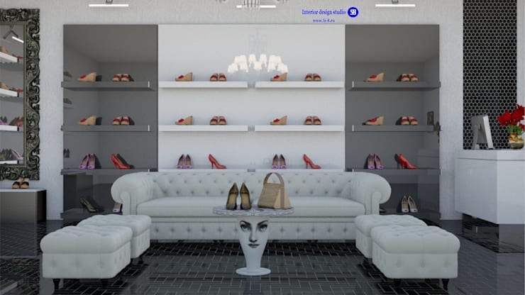 Shoe store:  Commercial Spaces by 'Design studio S-8'