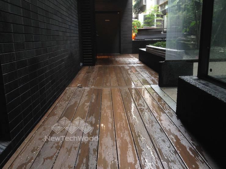 台北市1F及RF公設木地板(1F):  露臺 by 新綠境實業有限公司