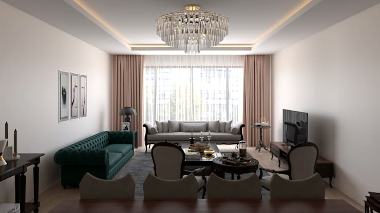 Dündar Design - Mimari Görselleştirme – Casa Mobilya - Salon Görselleştirmesi:  tarz Oturma Odası