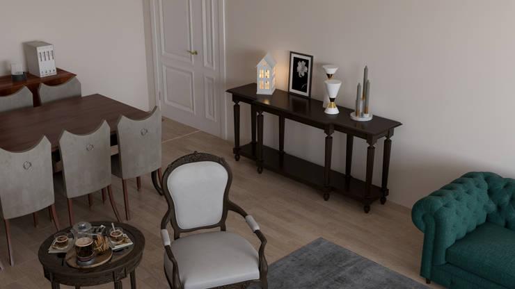 Dündar Design - Mimari Görselleştirme – Casa Mobilya – Salon Görselleştirmesi:  tarz Oturma Odası
