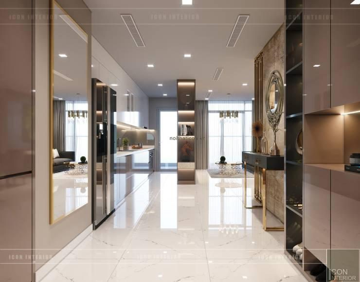 Thiết kế nội thất hiện đại căn hộ Vinhomes Central Park - ICON INTERIOR:  Cửa ra vào by ICON INTERIOR