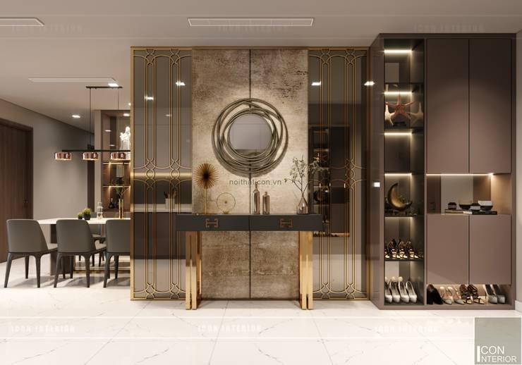 Thiết kế nội thất hiện đại căn hộ Vinhomes Central Park – ICON INTERIOR:  Cửa ra vào by ICON INTERIOR