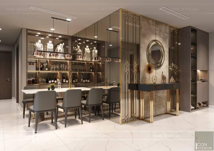 Thiết kế nội thất hiện đại căn hộ Vinhomes Central Park – ICON INTERIOR:  Phòng ăn by ICON INTERIOR