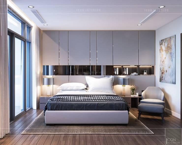 Thiết kế nội thất hiện đại căn hộ Vinhomes Central Park – ICON INTERIOR:  Phòng ngủ by ICON INTERIOR