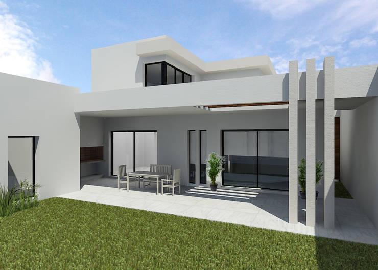 CASA FV: Casas unifamiliares de estilo  por |ESTUDIO ARQUITECTURA|,