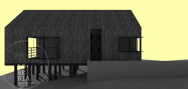 Diseño de Casa 48 por Lobería Arquitectura: Casas unifamiliares de estilo  por Loberia Arquitectura