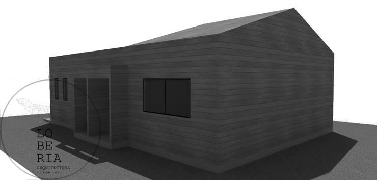 Diseño Casa 56 por Lobería Arquitectura: Casas unifamiliares de estilo  por Loberia Arquitectura