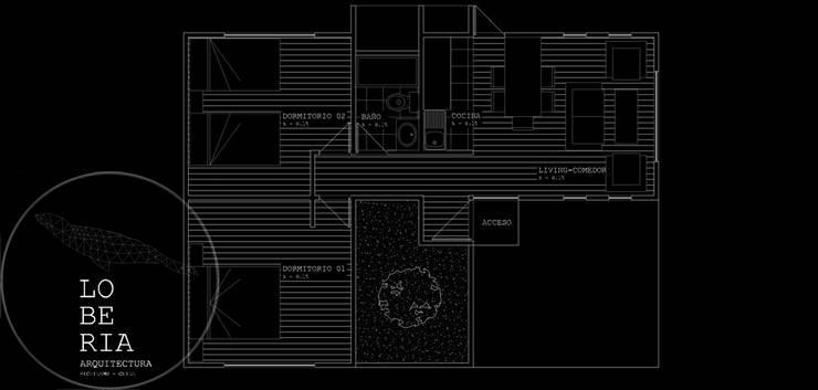 Diseño Casa 56 por Lobería Arquitectura:  de estilo  por Loberia Arquitectura