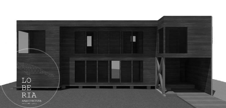 Diseño Casa Herrera por Lobería Arquitectura: Casas unifamiliares de estilo  por Loberia Arquitectura
